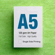 Leaflet A5 - 128gsm Art Paper - 1 Side printing