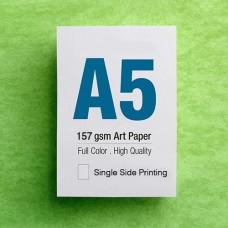 Leaflet A5 - 157gsm Art Paper - 1 Side printing