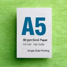 Leaflet A5 - 80gsm Simili Paper - 1 Side printing