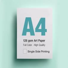 Leaflet A4 - 128gsm Art Paper - 1 Side printing