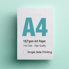 Leaflet A4 - 157gsm Art Paper - 1 Side printing