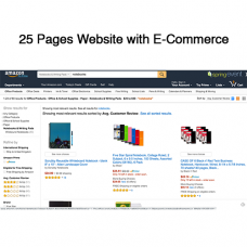 25 Pages Website with E-Commerce