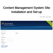 Content Management System Site Installation and Set-up