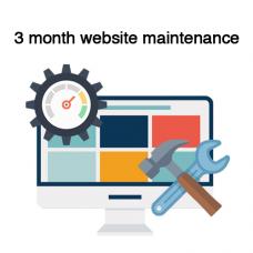 3 months Website maintenance